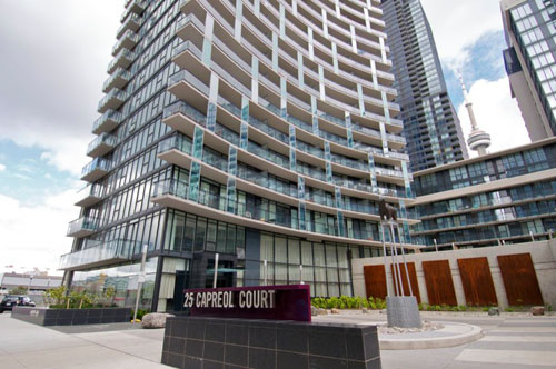 2 bed furnished suite for lease at cityplace luna for 10 capreol court toronto floor plans