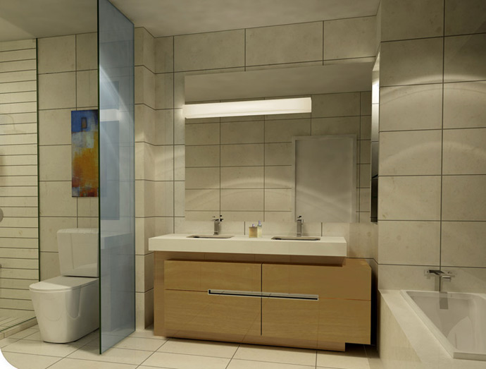 L Tower Model Suite Bathroom