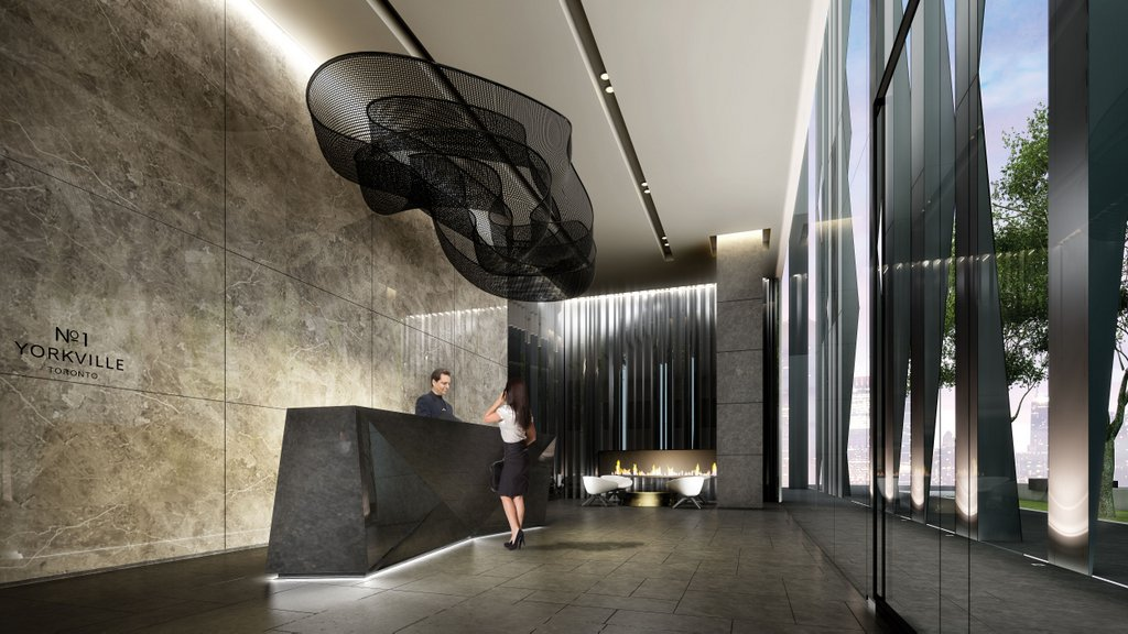 One Yorkville Condos for sale - Lobby 2