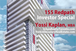 155 Redpath - Investor Suites at Yonge and Eglinton VIP Sale On Now. Click for Access