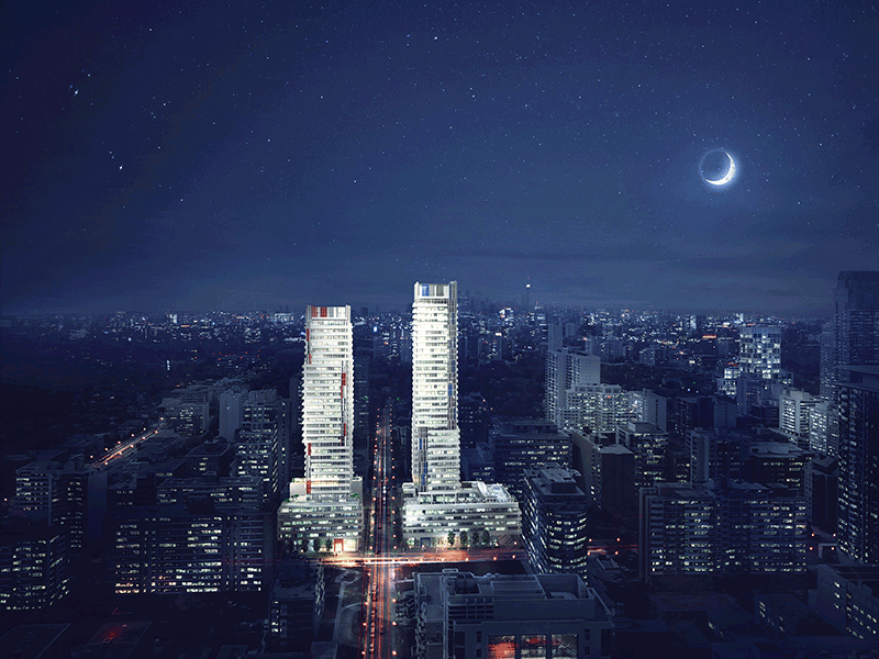 150 REDPATH CONDOS - NEW TOWERS AT NIGHT - CONTACT YOSSI KAPLAN