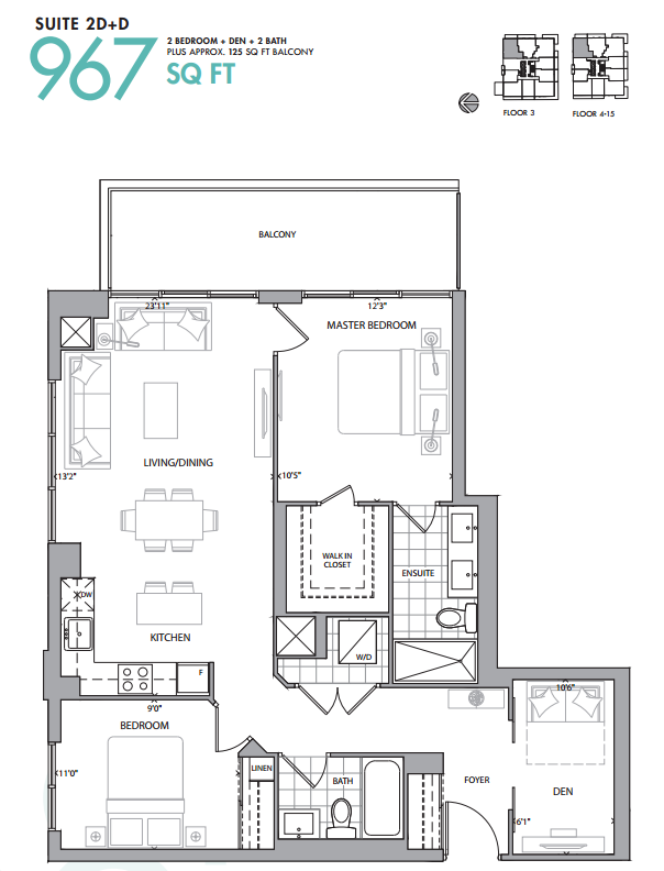 609 AVENUE ROAD CONDOS - FLOORPLANS TWO BEDROOM - CONTACT YOSSI KAPLAN