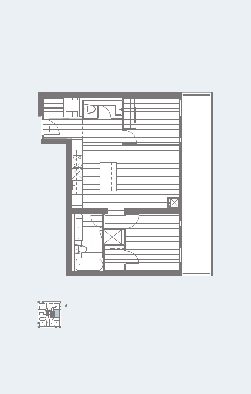 U CONDOS FOR SALE - FLOORPLANS TWO BED