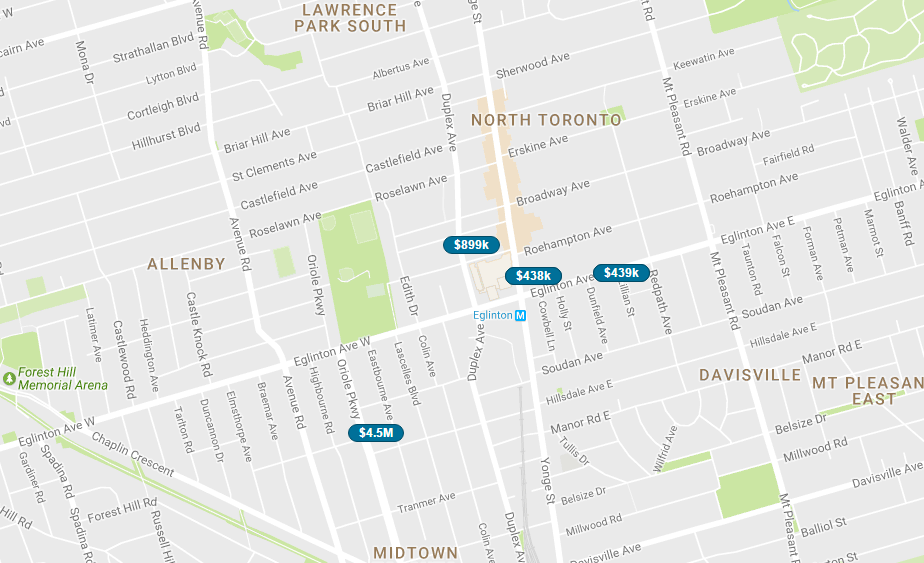 YONGE AND EGLINTON CONDOS - LIVE MAP SEARCH