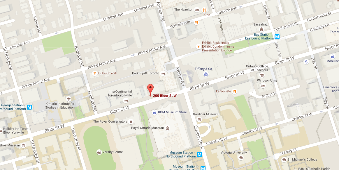 200 BLOOR ST WEST - MAPS LOCATION