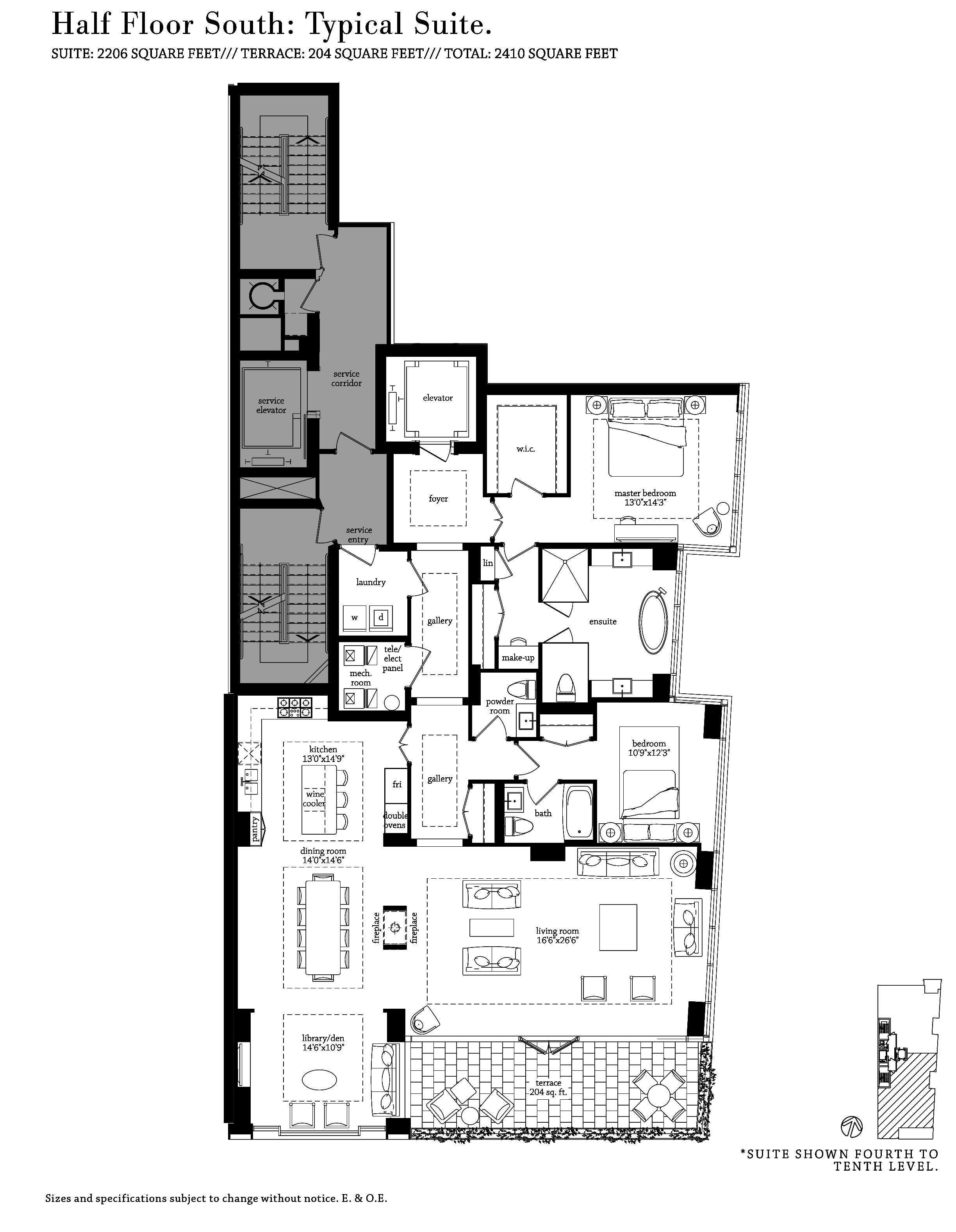 MUSEUM HOUSE - FLOORPLANS HALF FLOOR 2200 SQ FT