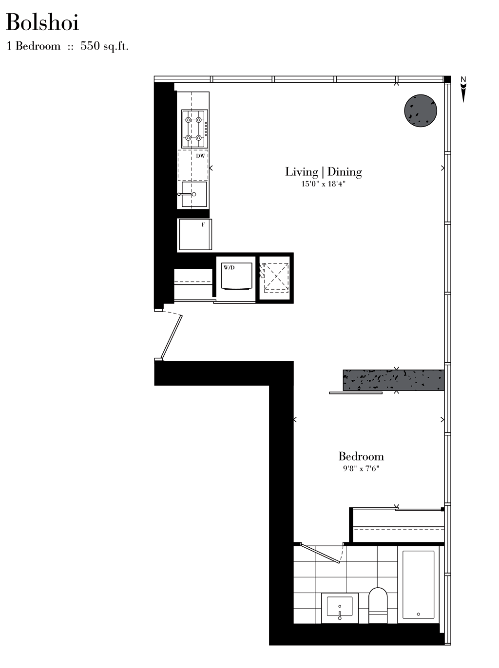 224 KING ST WEST - ONE BEDROOM 550 SQ FEET - CONTACT YOSSI KAPLAN