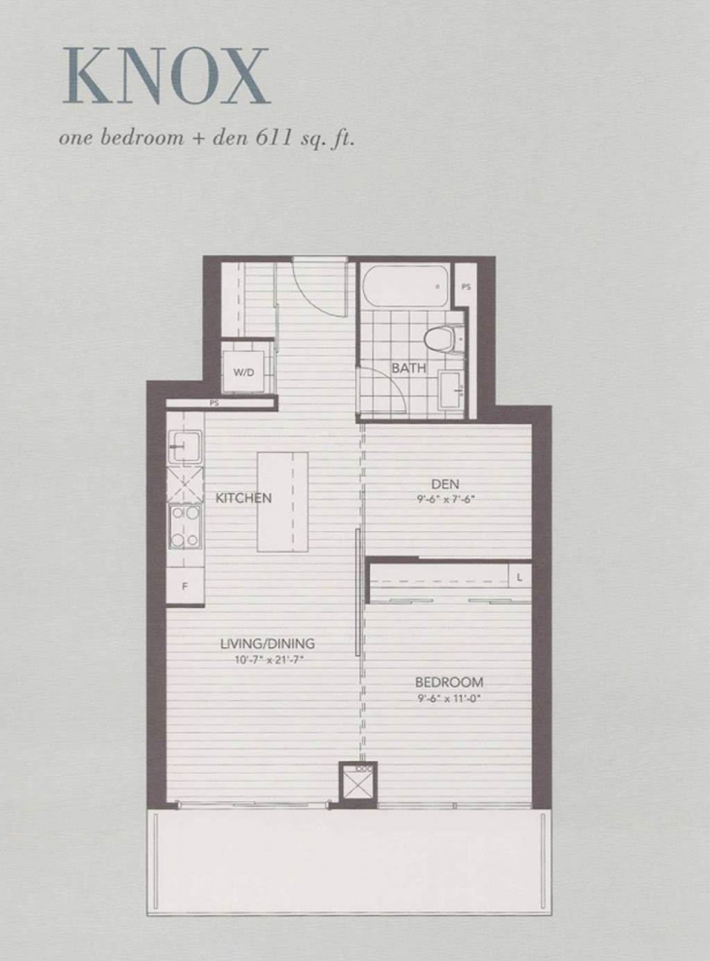 U CONDOS - FLOORPLANS ONE BED 611 SQ FT - CONTACT YOSSI KAPLAN