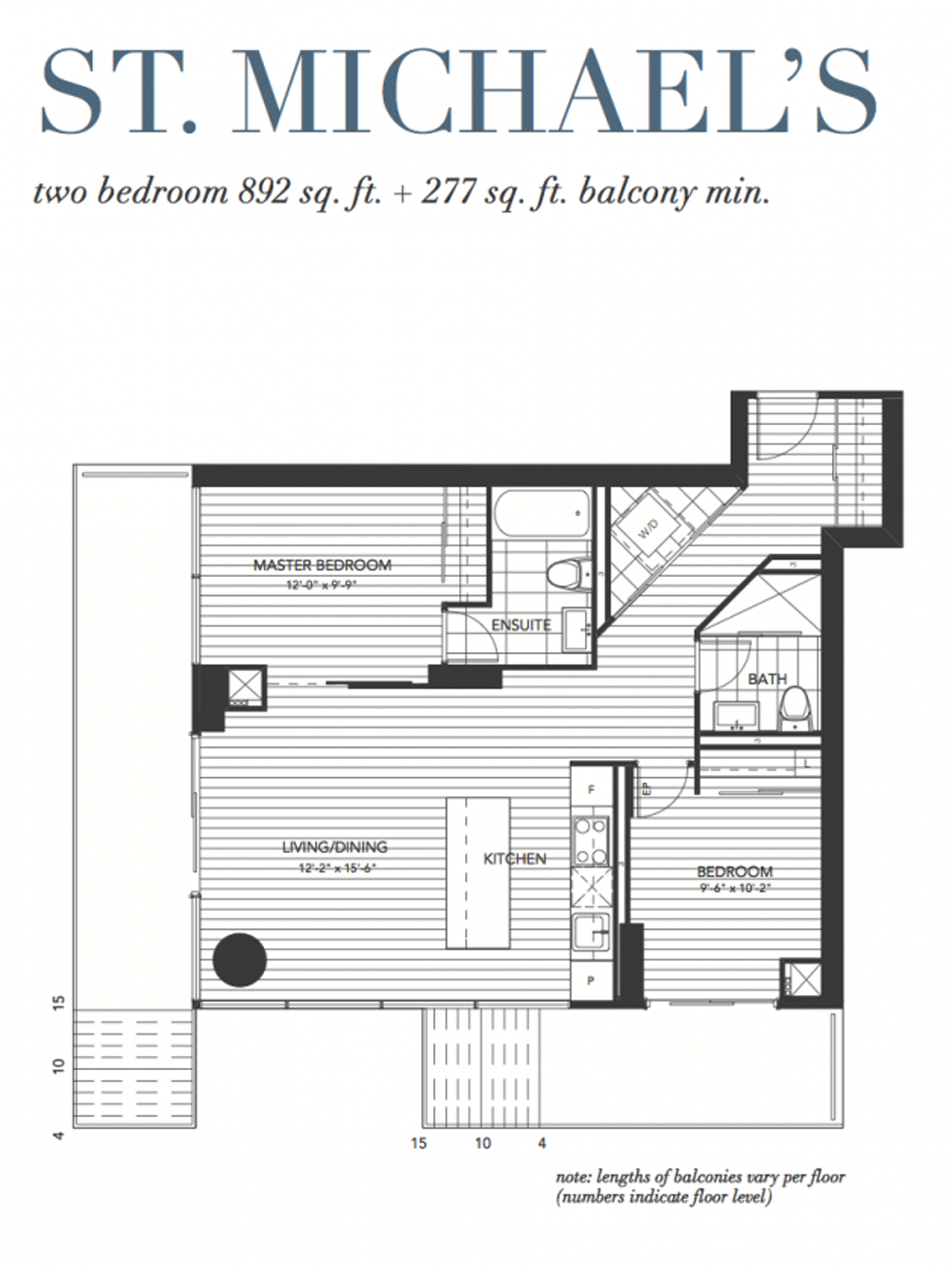 U CONDOS - FLOORPLANS TWO BED 892 SQ FT - CONTACT YOSSI KAPLAN