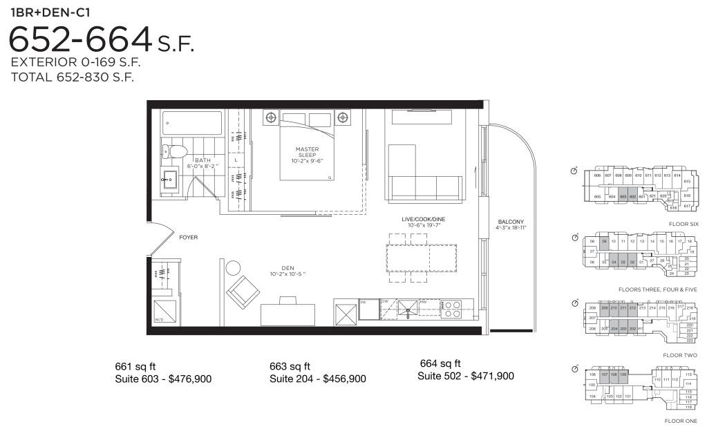 377 MADISON - FLOORPLAN ONE BED 652 SQ FT - CONTACT YOSSI KAPLAN