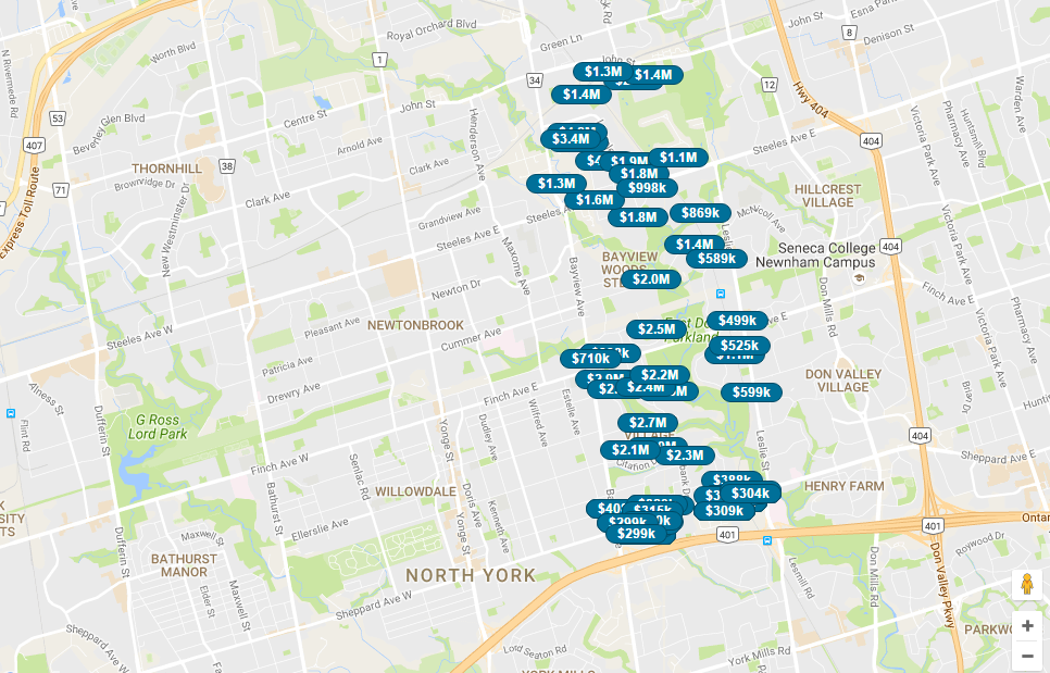 BAYVIEW VILLAGE NEIGHBOURHOOD COMPARE - SEARCHREALTY.CO