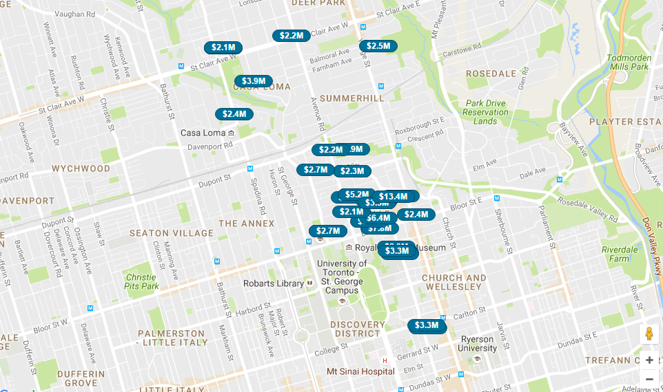 MIDTOWN TORONTO MAP SEARCH - CONTACT YOSSI KAPLAN