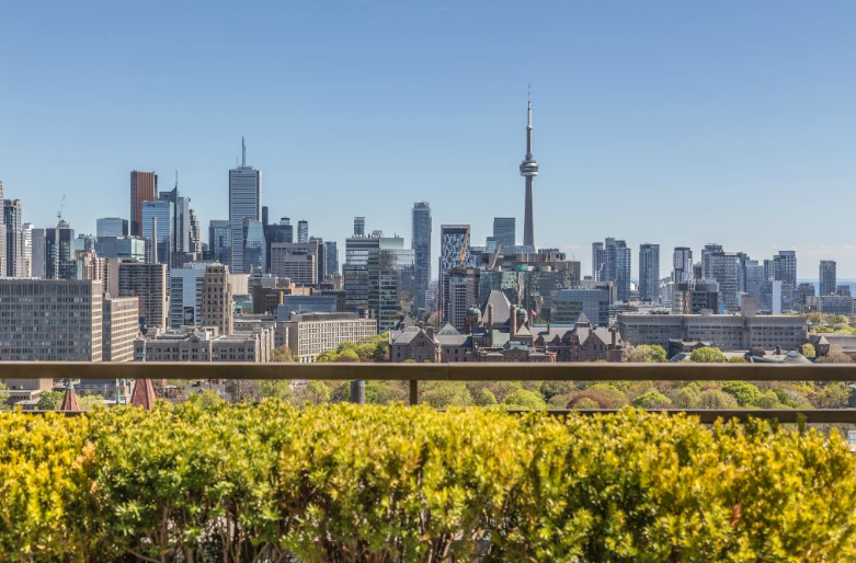 175 CUMBERLAND CONDOS - PENTHOUSE FOR SALE - BALCONY VIEW