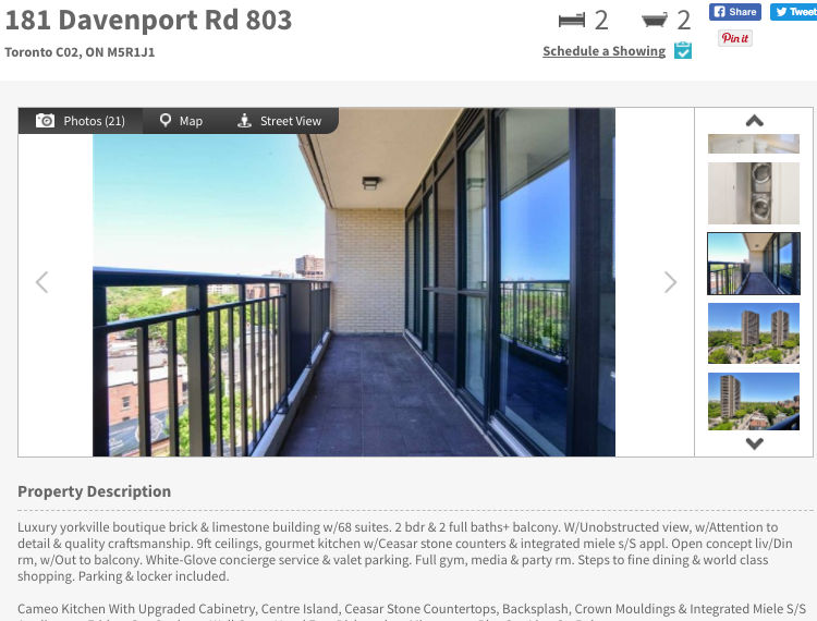 181 Davenport Rd - Two Bedroom & Two Baths with views Condo for Sale - Call Yossi KAPLAN