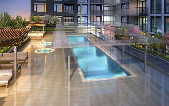 MUSEE PLAZA CONDOS - 525 ADELAIDE ST WEST - TERRACE POOL