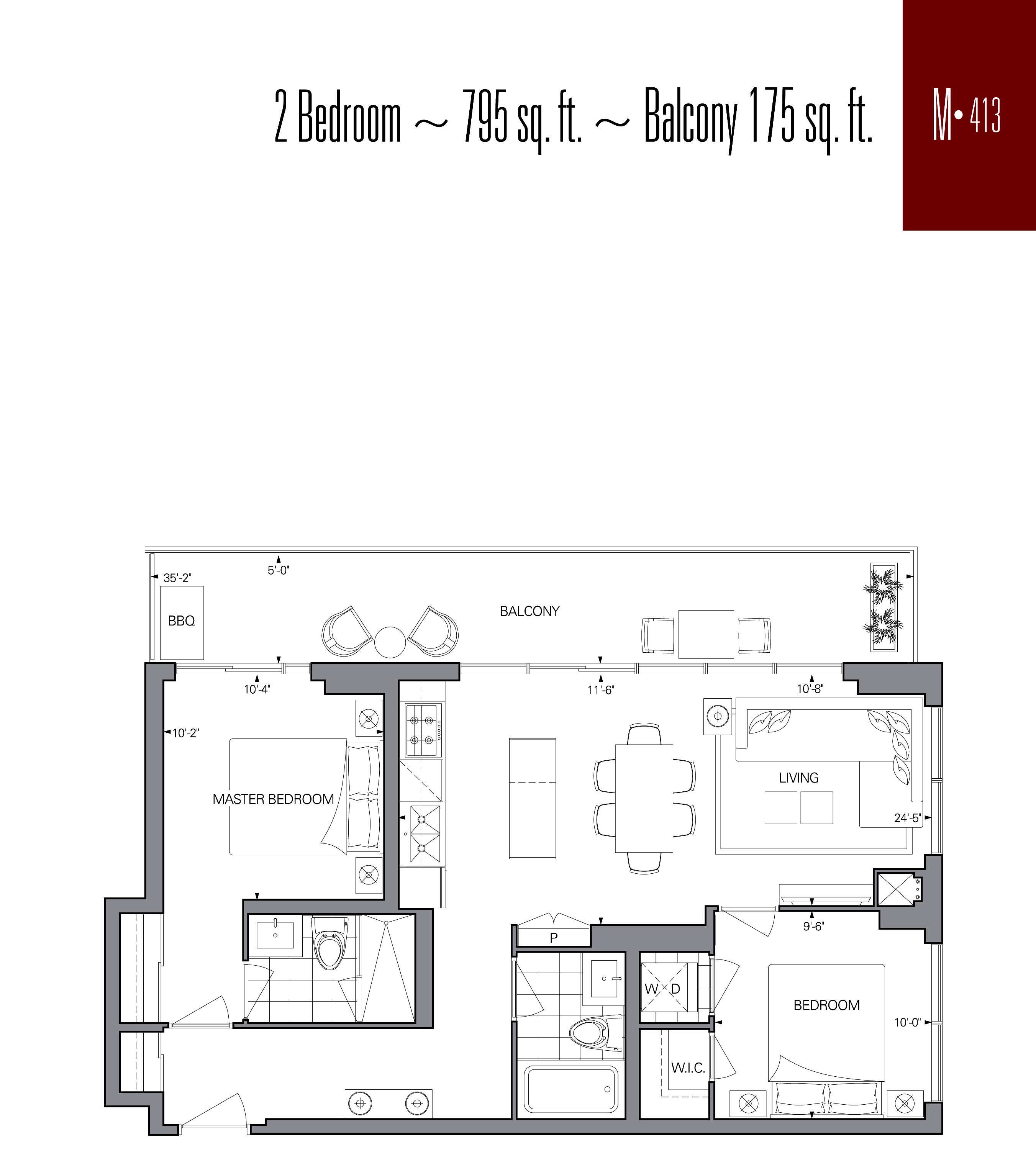 RISE CONDOS - FLOORPLANS TWO BED 795 SQ FT - CONTACT YOSSI KAPLAN