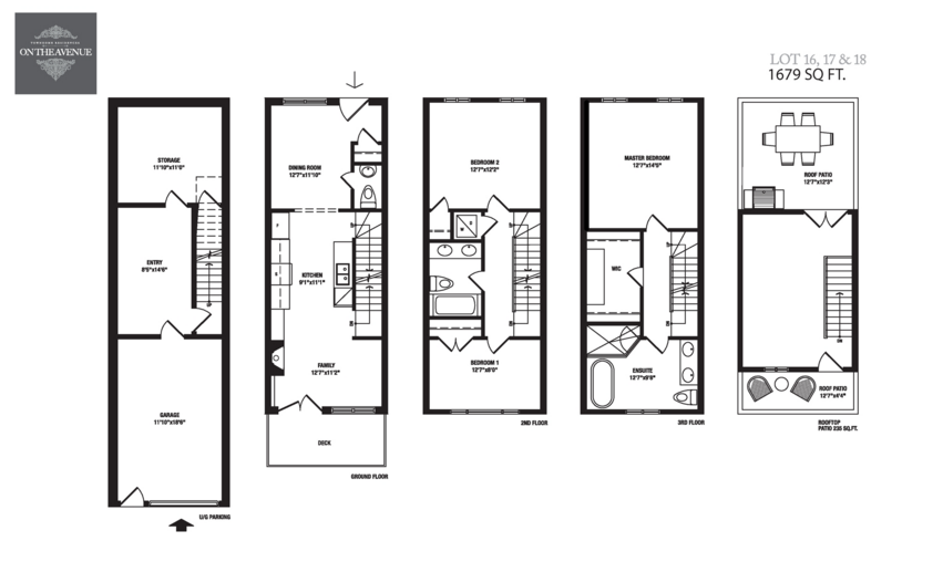 ON THE AVENUE TOWNS - FLOORPLAN 1679 SQ FT - CONTACT YOSSI KAPLAN