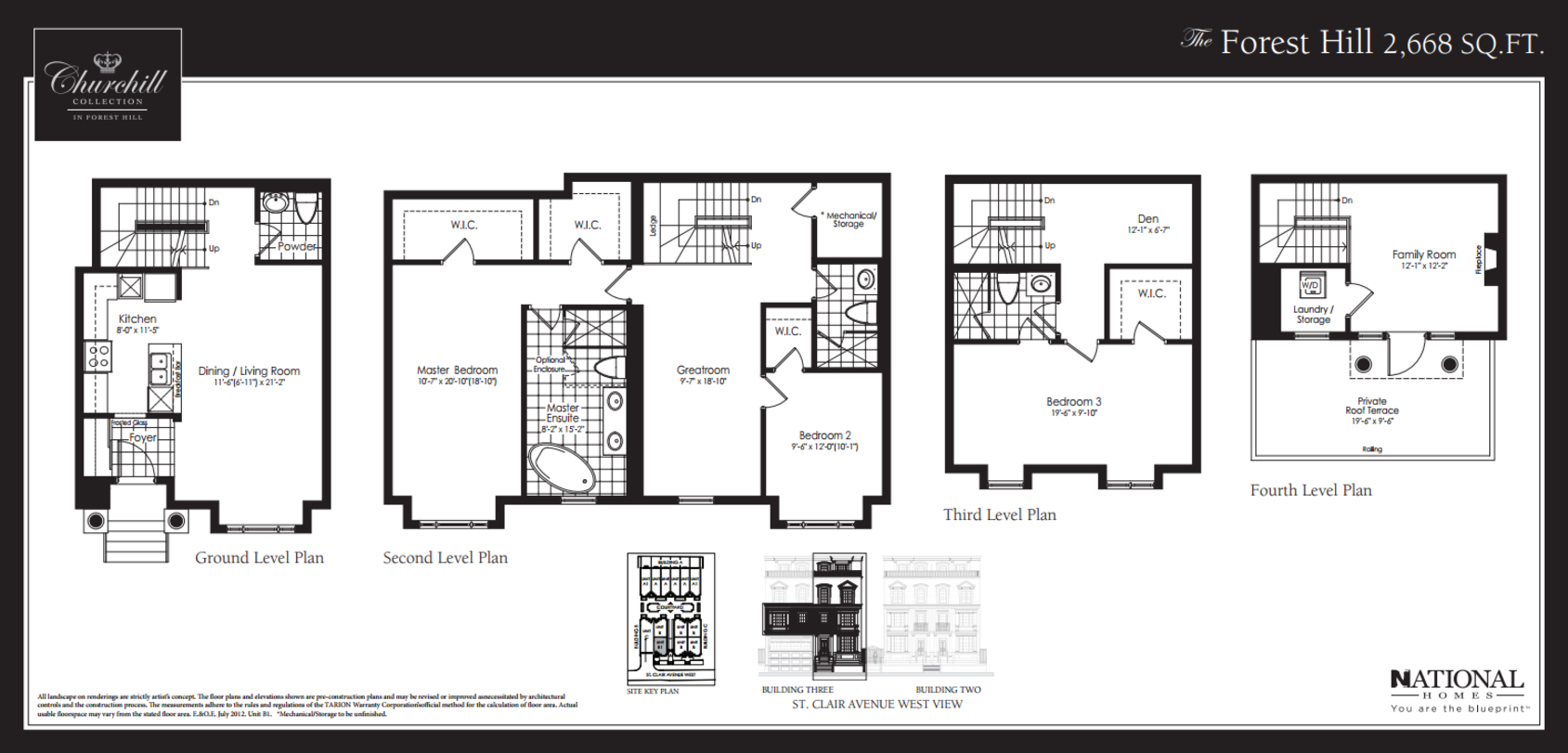 THE FOREST HILL TOWNS - FLOORPLAN 2668 SQ FT - CONTACT YOSSI KAPLAN