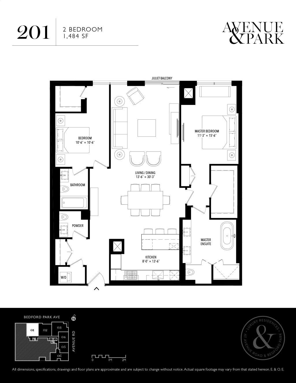 1580 AVENUE - FLOORPLANS TWO BED 1484 SF - CONTACT YOSSI KAPLAN