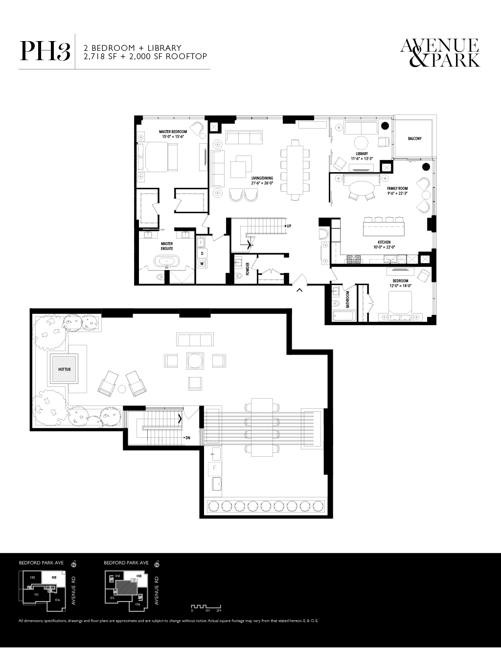 1580 AVENUE - FLOORPLANS TWO BED PH 2718 SF - CONTACT YOSSI KAPLAN