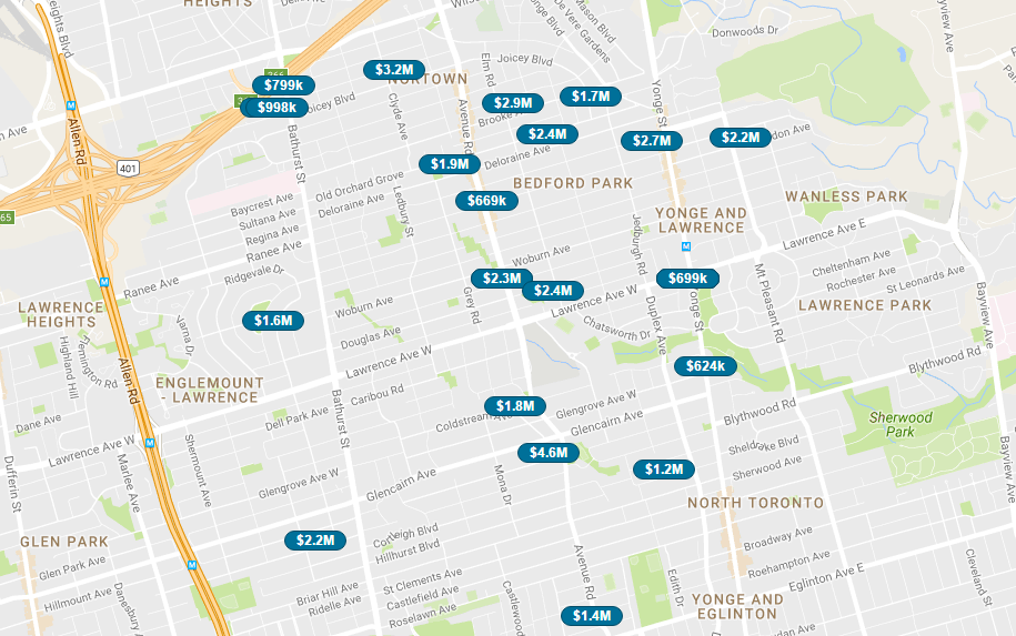 LAWRENCE PARK - LIVE MAP SEARCH SCREENSHOT
