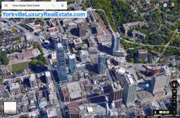 Map of Yorkville Condos For Sale - by Yossi Kaplan