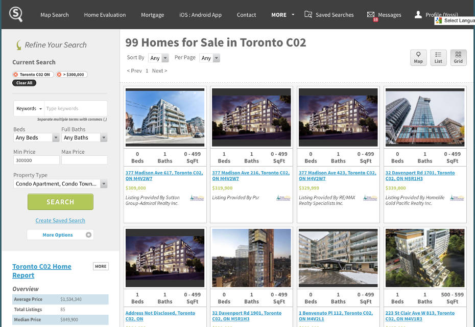 Toronto Midtown, Casaloma, Madison Ave Condos for Sale - Live Listings