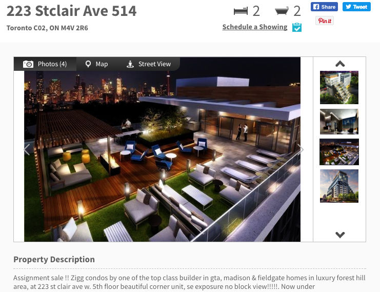 223 St. Clair Condo for Sale - Two Bedroom plus Den - Call Yossi KAPLAN
