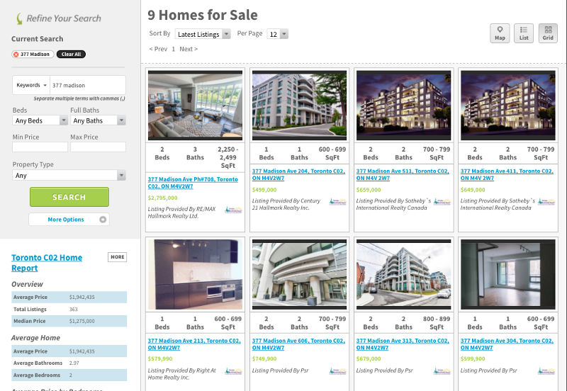 377 Madison Ave Condos for Sale - Live Listings - Call Yossi KAPLAN