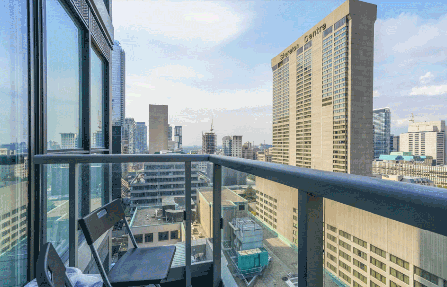 70 Temperance St Condos for Sale - Balcony View